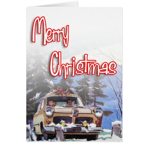Merry Christmas - Retro style Greeting Cards