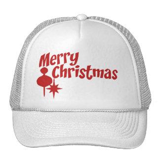 Merry Christmas Retro Style Mesh Hat