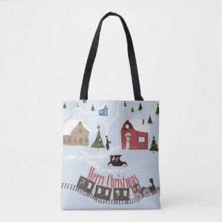 Merry Christmas , retro Tote Bag