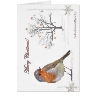 Merry Christmas Robin Greeting Card