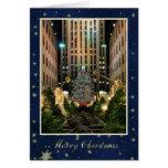 Merry Christmas: Rock Centre, Blue Starry Sky