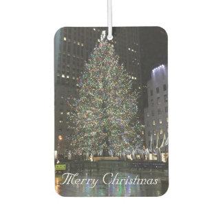Merry Christmas Rockefeller Center NYC Xmas Tree Car Air Freshener