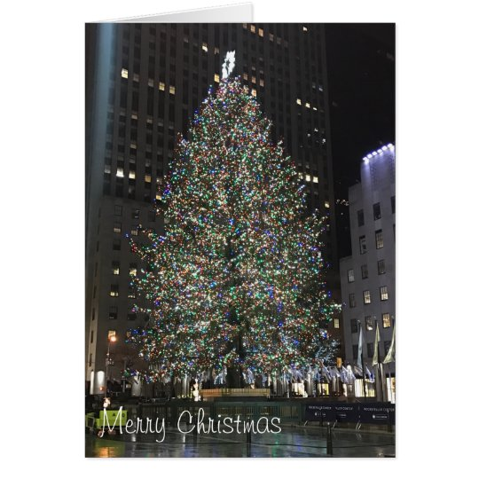 Merry Christmas Rockefeller Centre NYC Xmas Tree Card