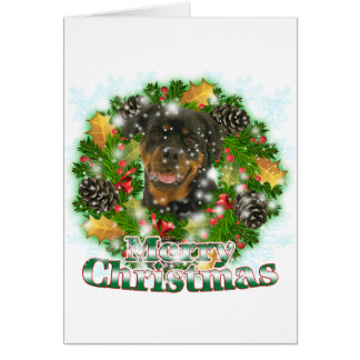 Merry Christmas Rottweiler Greeting Card