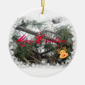 Merry Christmas Rudolph Ornament