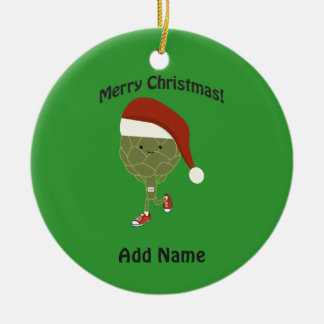 Merry Christmas! Running Artichoke Christmas Ornament