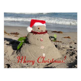 Merry Christmas! sandman snowman Postcard