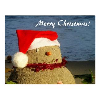Merry Christmas! sandman/ snowman Post Card