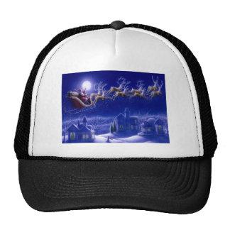Merry Christmas Santa and His Sleigh Hats