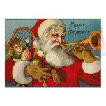 Merry Christmas Santa and Toys Greeting Card