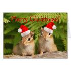 Merry Christmas! Santa Chipmunks Card