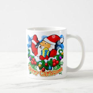 Merry Christmas: SANTA Classic White Coffee Mug