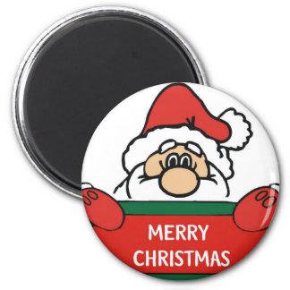 Merry Christmas Santa Claus 6 Cm Round Magnet