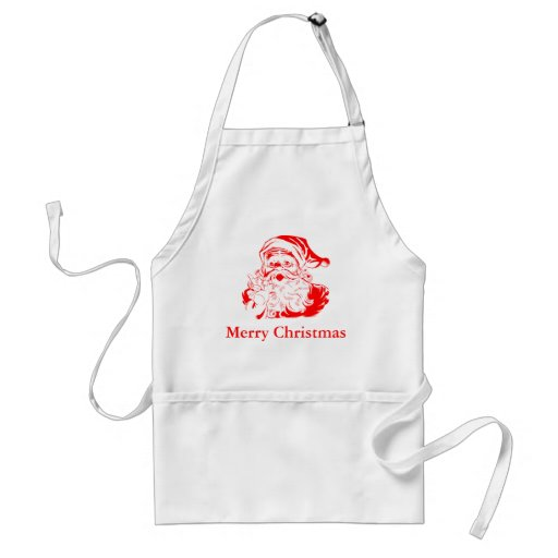 Merry Christmas Santa Claus Apron