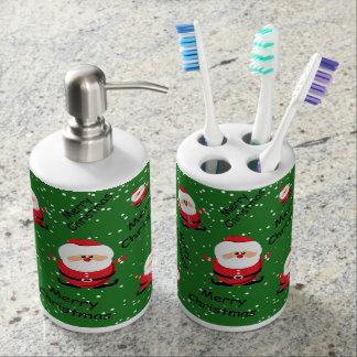 Merry Christmas Santa Claus Bathroom Set