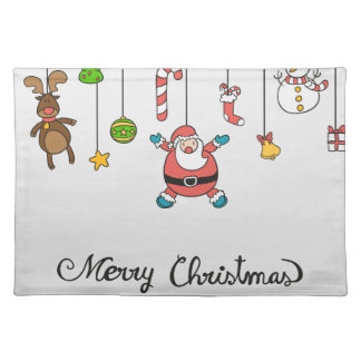 Merry Christmas Santa Claus Placemats
