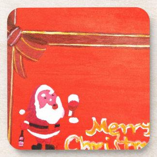Merry Christmas Santa Claus Coaster