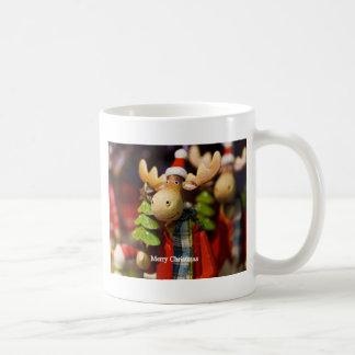 Merry Christmas Santa Claus Moose Coffee Mug