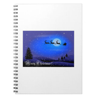 Merry Christmas Santa Claus Spiral Notebook