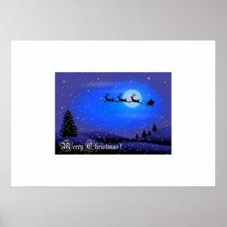 Merry Christmas Santa Claus Print