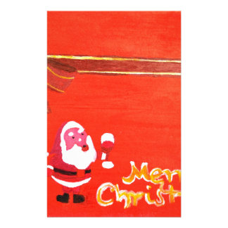Merry Christmas Santa Claus Stationery Paper