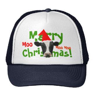 Merry Christmas Santa Cow Truckers Hat/ Cap