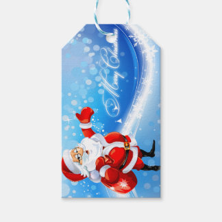 Merry Christmas Santa Custom Gift Tags
