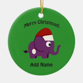 Merry Christmas! Santa Elephant Christmas Ornament