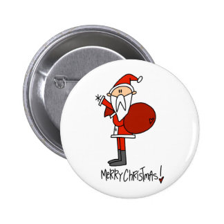 Merry Christmas Santa Gift 6 Cm Round Badge