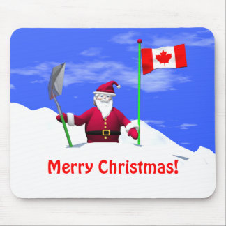 Merry Christmas Santa in Canada Mouse Mat