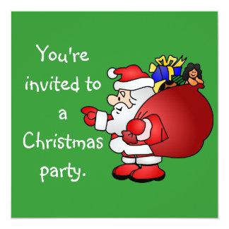 Merry Christmas Santa Invitaion 13 Cm X 13 Cm Square Invitation Card