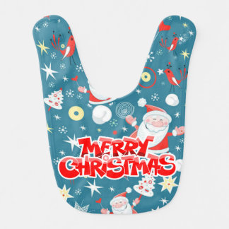 Merry Christmas Santa Love Baby Bibs