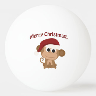 Merry Christmas! Santa Monkey Ping Pong Ball