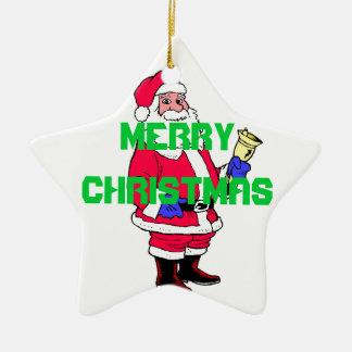 Merry Christmas santa ornament