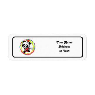 Merry Christmas Santa Panda Return Address Label