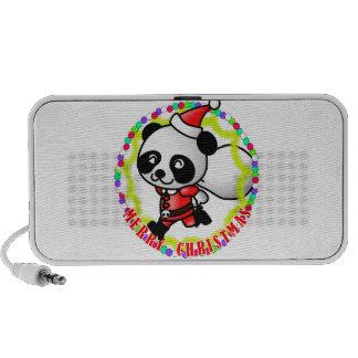 Merry Christmas Santa Panda Travelling Speaker
