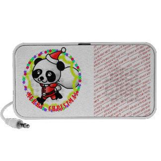 Merry Christmas Santa Panda Mini Speakers