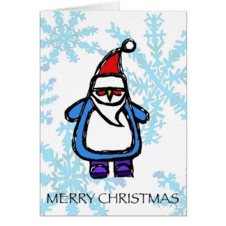 merry christmas - santa penguin cards