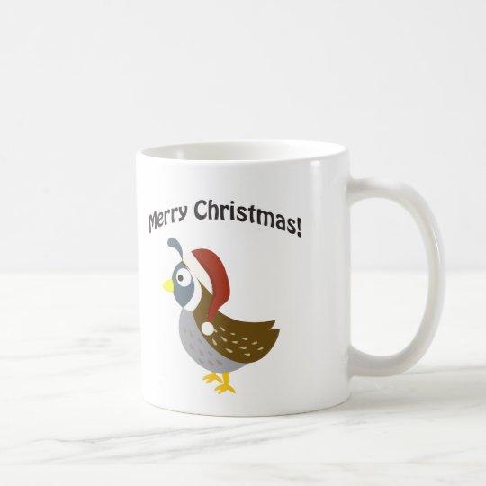 Merry Christmas! Santa Quail Coffee Mug