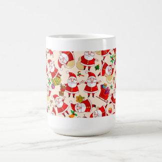 Merry Christmas Santa Red Gold Green Coffee Mug