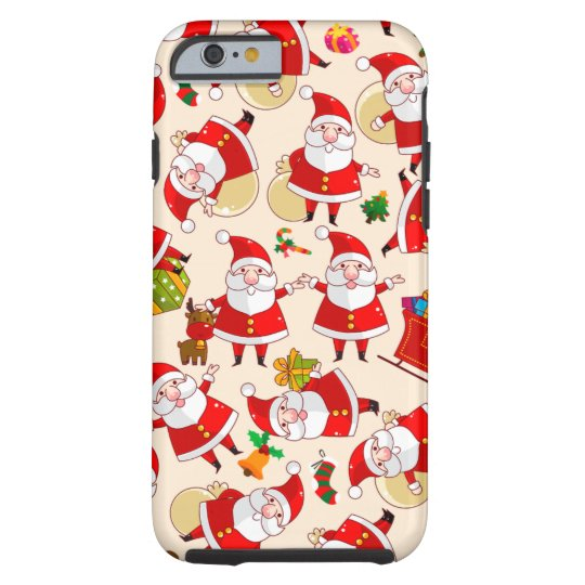 Merry Christmas Santa Red Gold Tough iPhone 6