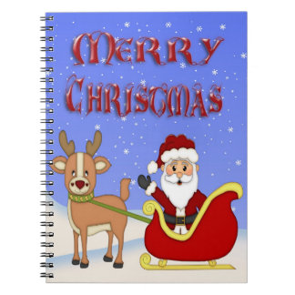 Merry Christmas Santa Spiral Notebook
