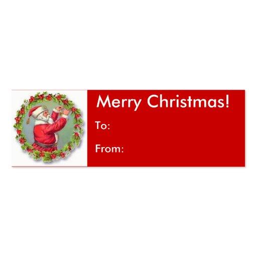 Merry Christmas Santa Tag Business Card