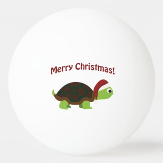 Merry Christmas! Santa Turtle Ping Pong Ball