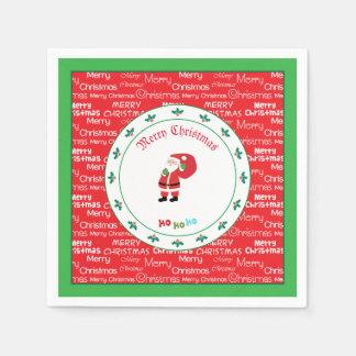 Merry Christmas Santa Waving Disposable Napkin