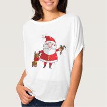 Merry Christmas Santa Women's Bella Circle Top T-shirt