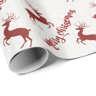 Merry Christmas Santa's Deers Wrapping Paper
