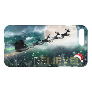 Merry Christmas - Santa's Midnight Ride Reindeer iPhone 8 Plus/7 Plus Case