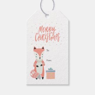 Merry Christmas Scandinavian Fox | Gift Tags