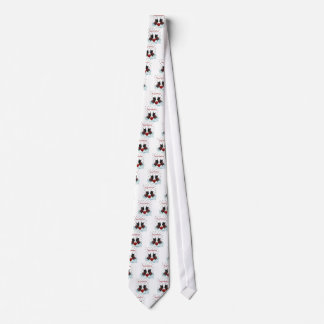 Merry Christmas Scottie Dog and Snowflakes Tie